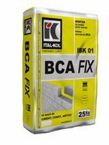 BCA FIX 25 kg - Mortar adeziv pentru zidarii BCA - ITALKOL
