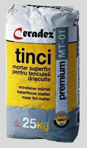 Mortar superfin pentru tencuieli drişcuite - TINCI ALB CERADEZ
