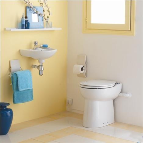 SANIFLO - SANICOMPACT C43  WC cu sistem integrat - uz casnic
